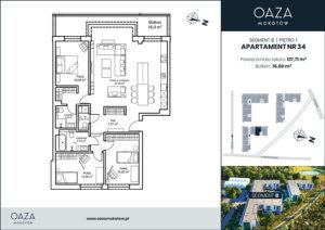 Oaza Mokotów apartament 34