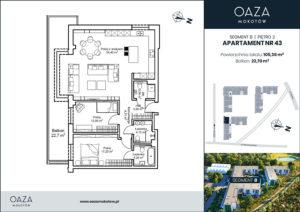 Oaza Mokotów Apartament 43
